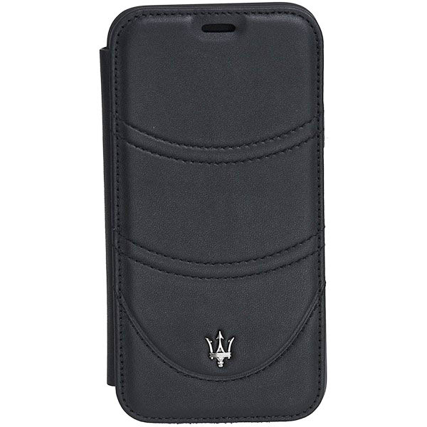 MASERATI iPhone X Book Shaped Case-GRANLUSSO/Black-