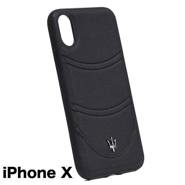 MASERATI iPhone X Case-GRANLUSSO/Black-