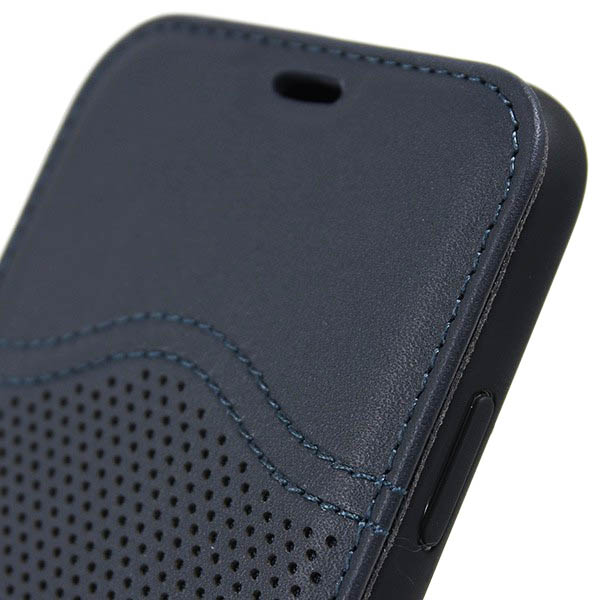 MASERATI iPhone X Book Shaped Case-GRANLUSSO/Blue-