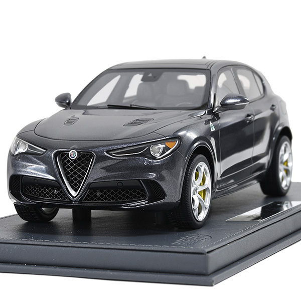 1/18 Alfa Romeo STELVIO QUADRIFOGLIO Miniature Model(Gray) by BBR