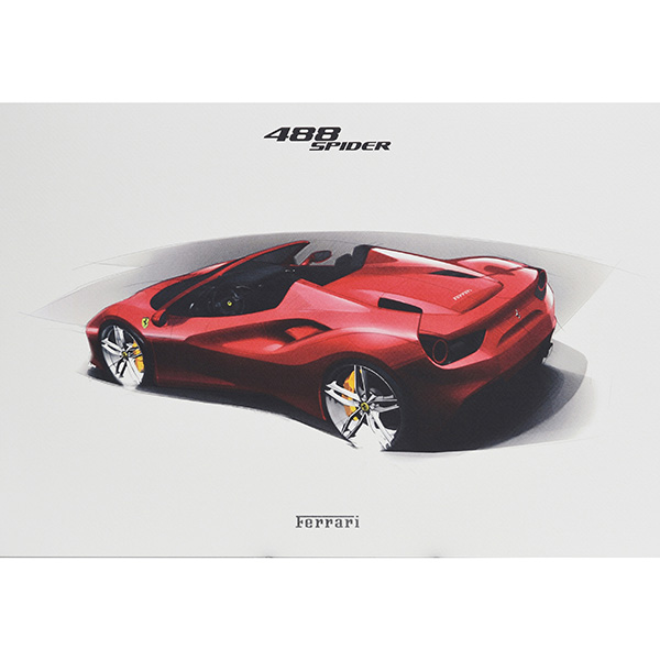 Ferrari 488GTB/488Spider/California-T Lithograph for VIP Guest