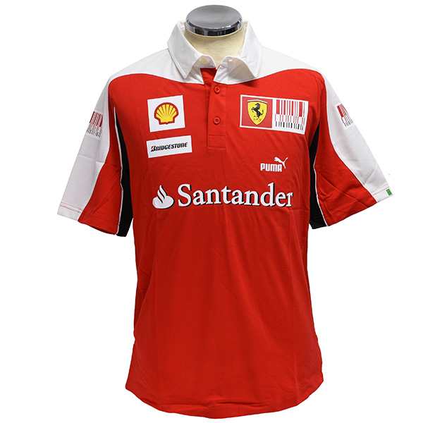Scuderia Ferrari 2010 Drivers Polo shirts(Late Model)