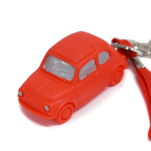 FIAT Nuova 500 Rubber Keyring(Red)