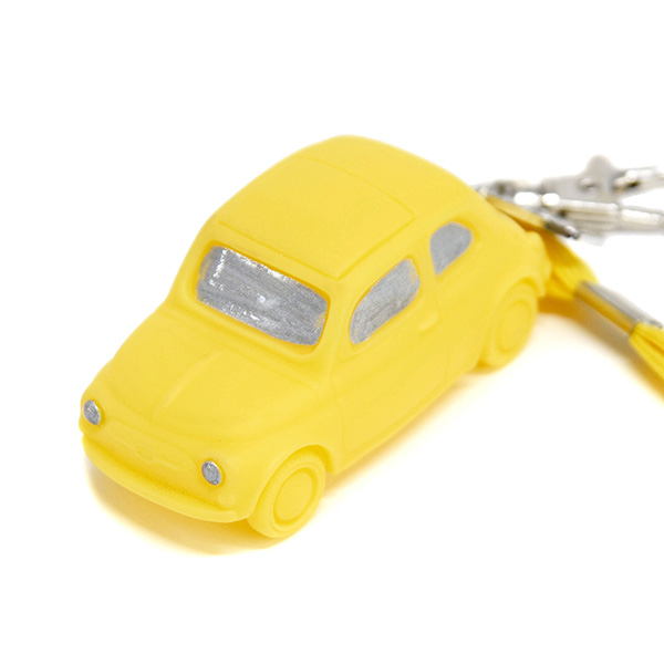 FIAT Nuova 500 Rubber Keyring(Yellow)