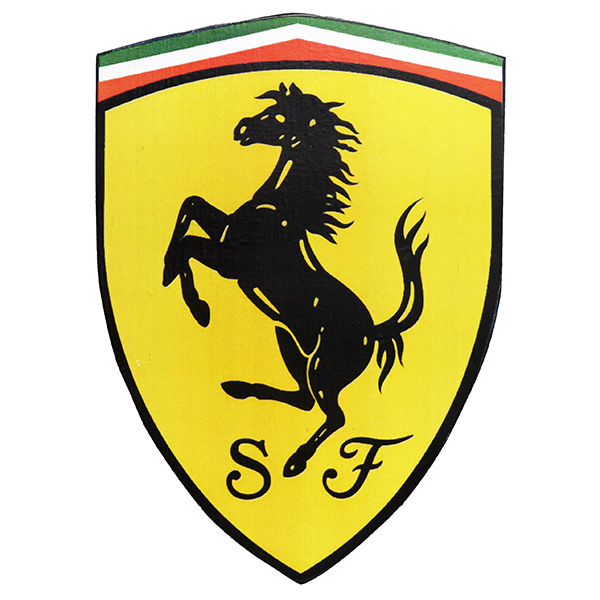 Ferrari SF Emblem Shaped wooden object