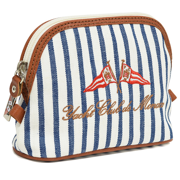 Yacht Club de Monaco Official Canvas Pouch(Stripe)