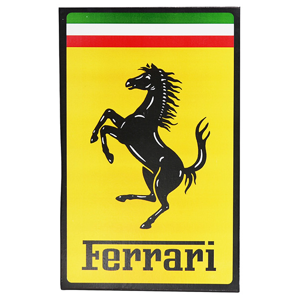 Ferrari Emblem Shaped Wooden Object