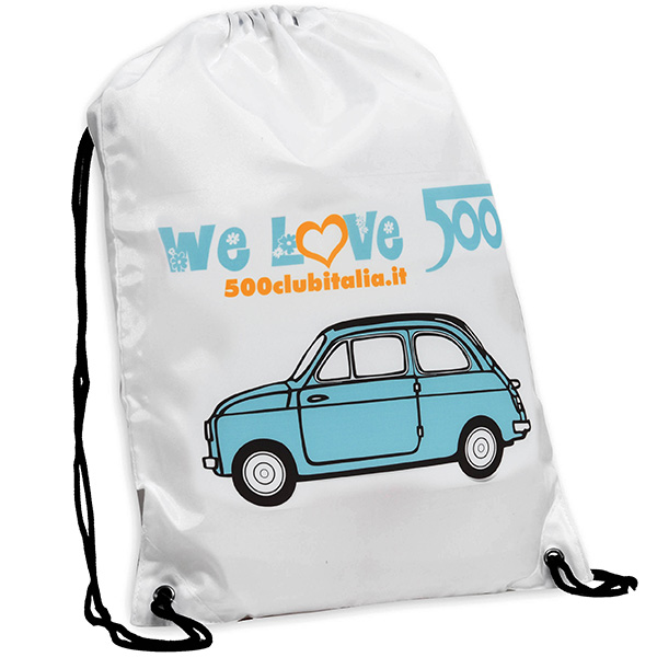 FIAT 500 CLUB ITALIA 500 Nylon Knap Sack(Blue)