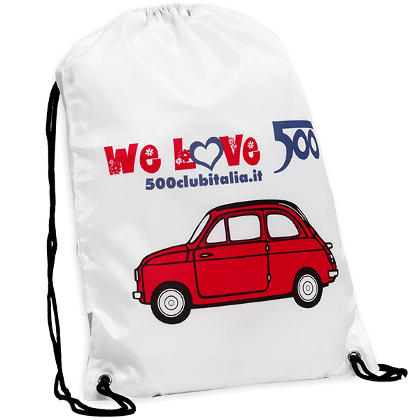 FIAT 500 CLUB ITALIA 500 Nylon Knap Sack(Red)