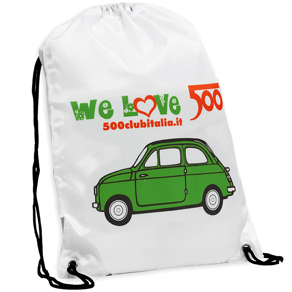 FIAT 500 CLUB ITALIA 500 Nylon Knap Sack(Green)