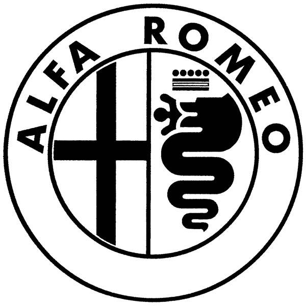 Alfa Romeo Emblem Sticker(Black/Die Cut/Large)