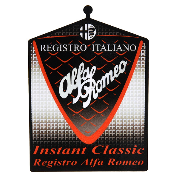 Registro Italiano Alfa Romeo Grill Shaped Sticker