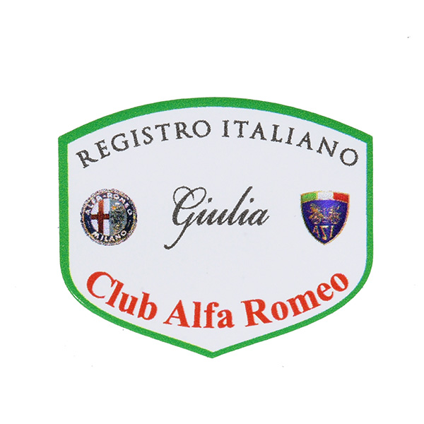 REGISTRO Italiano GIULIA Club Alfa Romeo Sticker(Small)