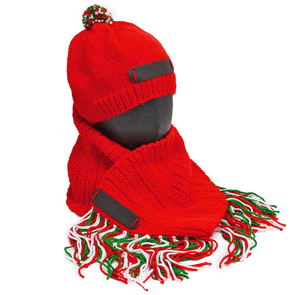 Alfa Romeo Knitted Hat& Muffler(Red)