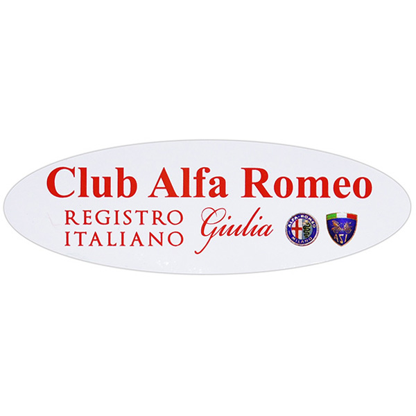 REGISTRO Italiano GIULIA Club Alfa Romeo Oval Shaped Sticker(small)