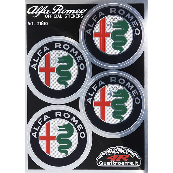 Alfa Romeo New Emblem Stickers(4pcs./Color/48mm)