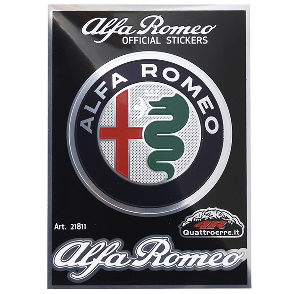 Alfa Romeo New Emblem & Logo Stickers(Color)