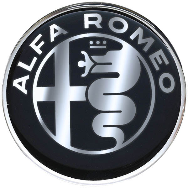 Alfa Romeo New Emblem 3D Sticker(75mm/Monotone)
