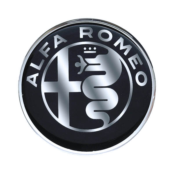 Alfa Romeo New Emblem 3D Sticker(48mm/Monotone)