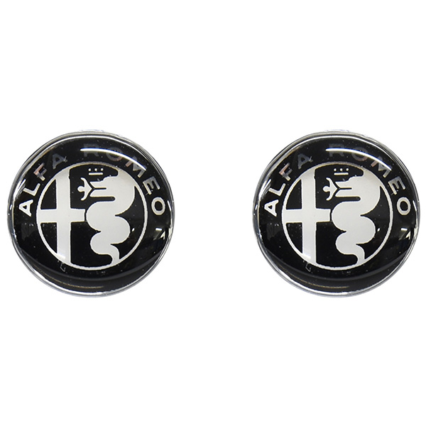 Alfa Romeo New Emblem 3D Sticker(12mm/Monotone/2pcs.)