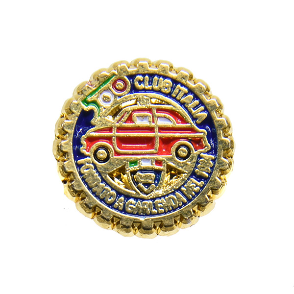 FIAT500 Club Italia Grill Shaped Pin Badge