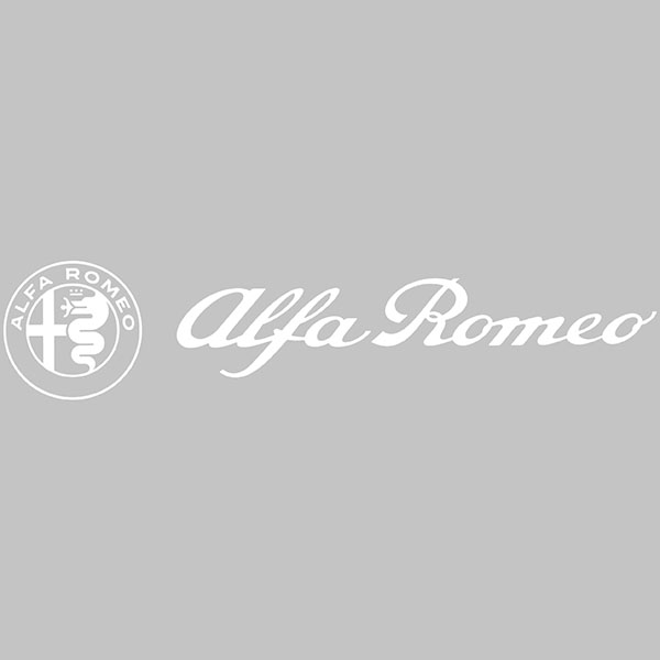 Alfa Romeo Logo & New Emblem Sticker(white/Die Cut/260mm)