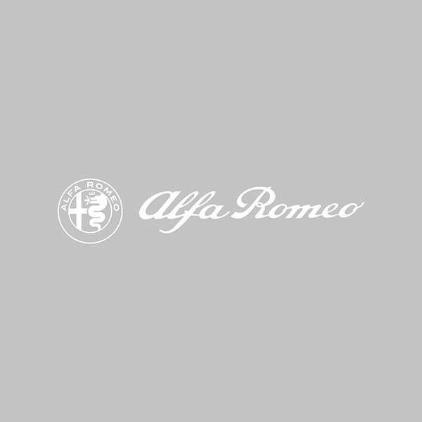 Alfa Romeo Logo & New Emblem Sticker(White/Die Cut/172mm)
