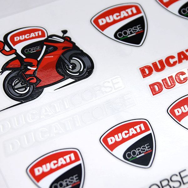 DUCATI Stickers Set-DUCATI CORSE-