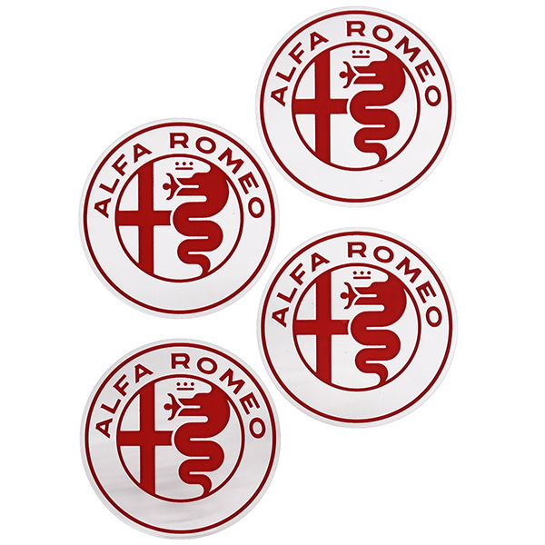 Alfa Romeo New Emblem Stickers Set(Red/4pcs.)