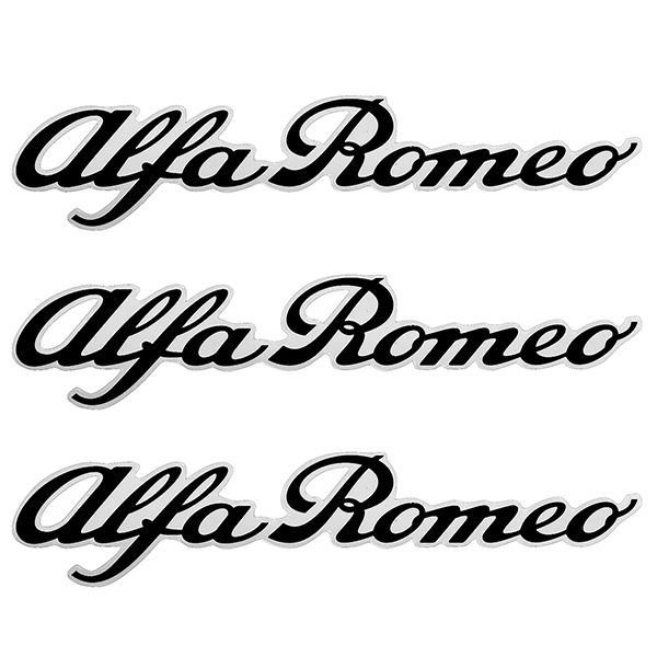 Alfa Romeo New Logo Stickers Set(Black/3pcs.)
