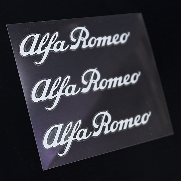 Alfa Romeo New Logo Stickers Set(White/3pcs.)