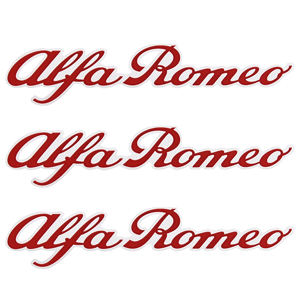Alfa Romeo New Logo Stickers Set(Red/3pcs.)