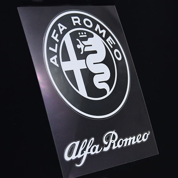 Alfa Romeo New Emblem & New Logo Stickers Set(White)