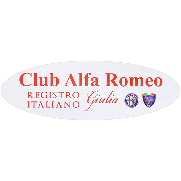 REGISTRO Alfa Romeo Giulia Oval Shaped Sticker(Large)
