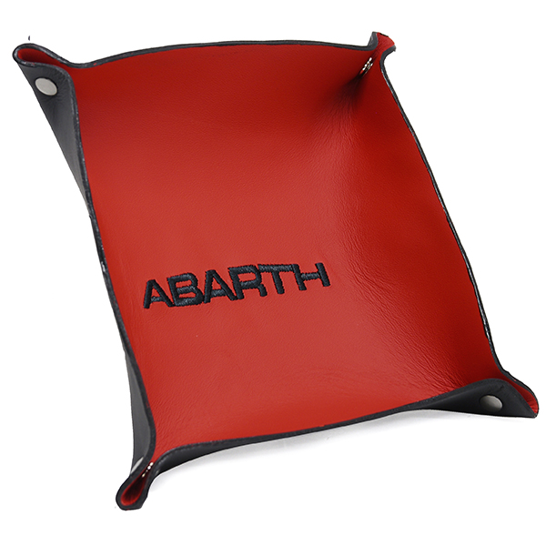 ABARTH Leather Tray(Red/Black Logo)