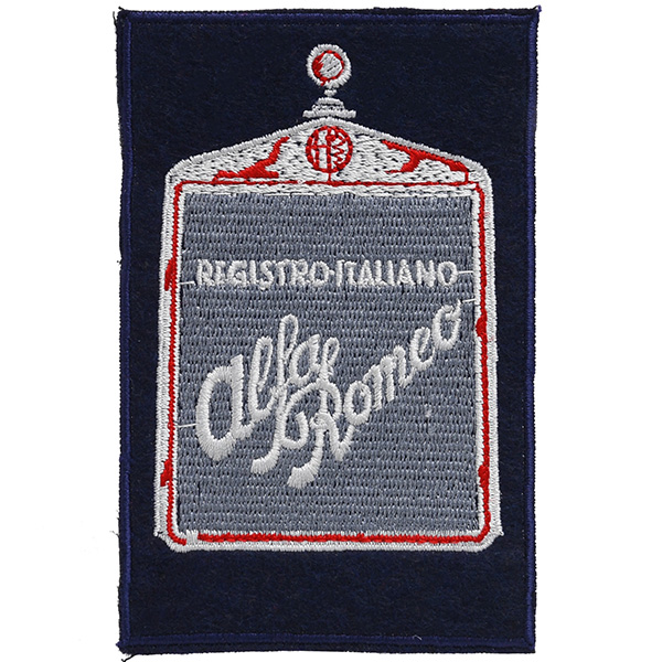 Registro Italiano Alfa Romeo Grill Shaped Patch