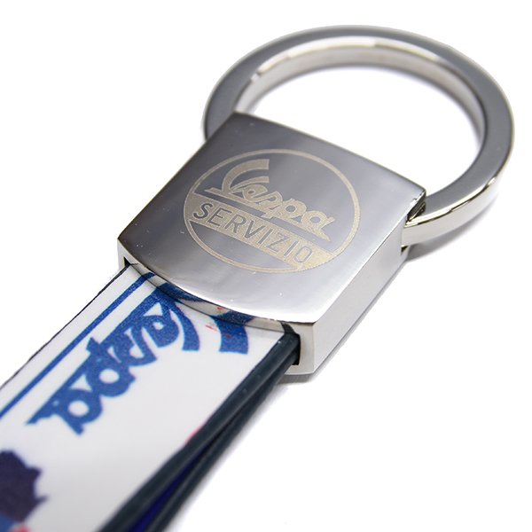 Vespa Official Strap Shaped Keyring(White)