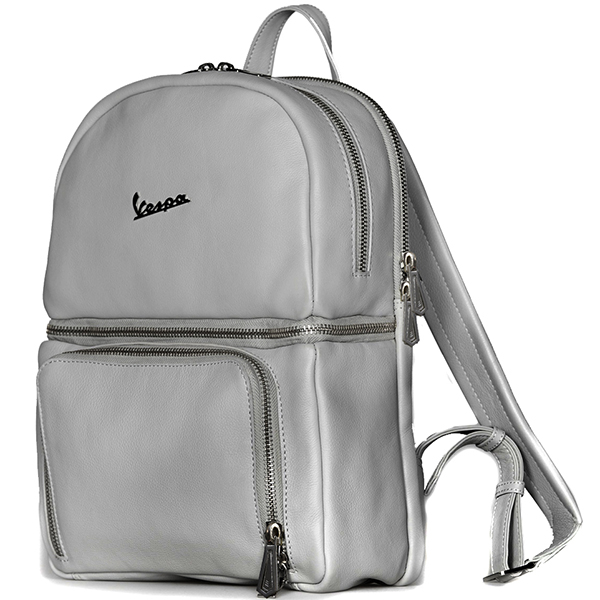 Vespa Official Leather Back Pack-PRIMAVERA 50TH-