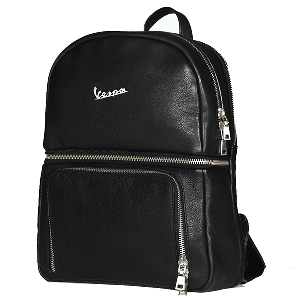 Vespa Official Leather Back Pack-PRIMAVERA 2018-