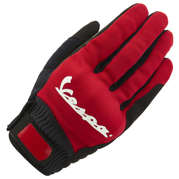 Vespa Official Riding Color Gloves(Red)