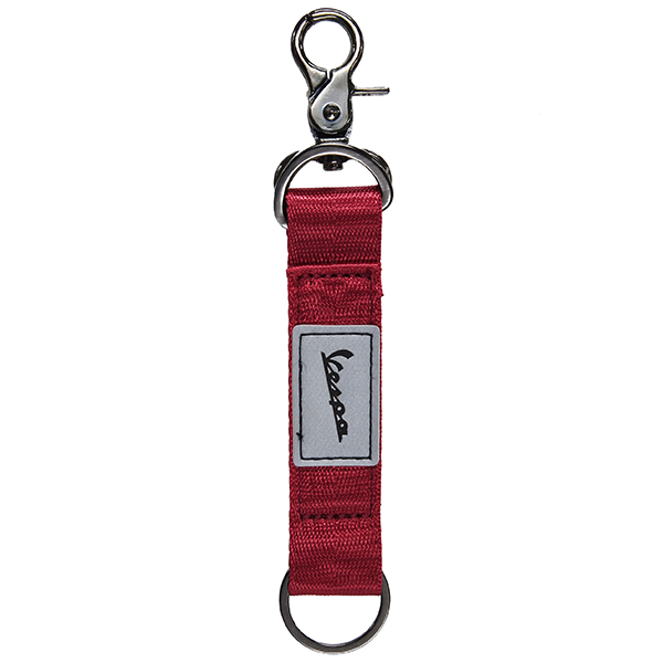 Vespa Official Strap Shaped Keyring-JOURNEY/Red-