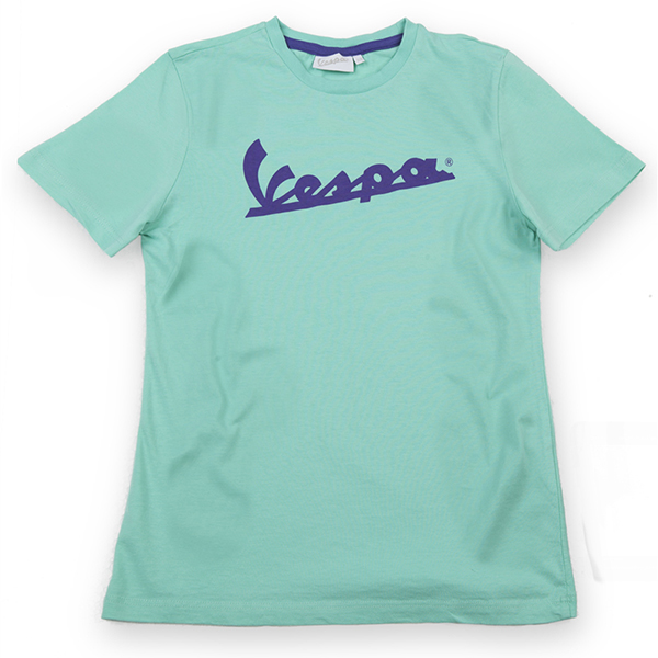 Vespa Official Logo T-Shirts for Kids(Green)