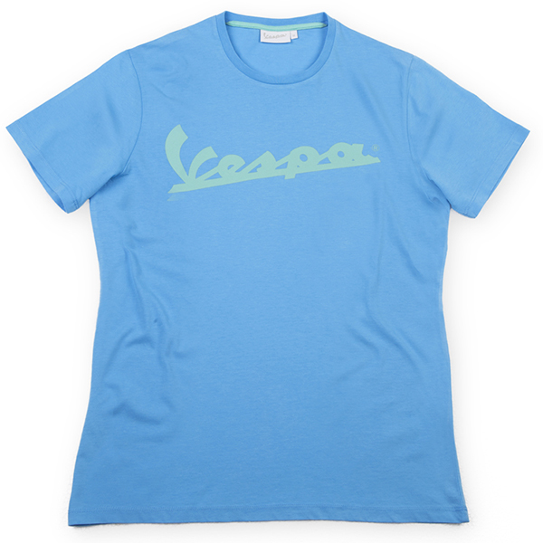 Vespa Official Logo T-Shirts(Light Blue)