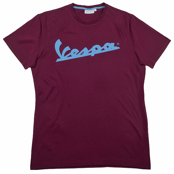 Vespa Official Logo T-Shirts(Bordeaux)