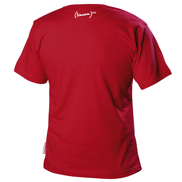 Vespa Official T-Shirts-946 RED-