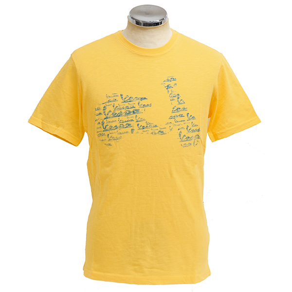 Vespa Official T-shirts-Primavera/Yellow-
