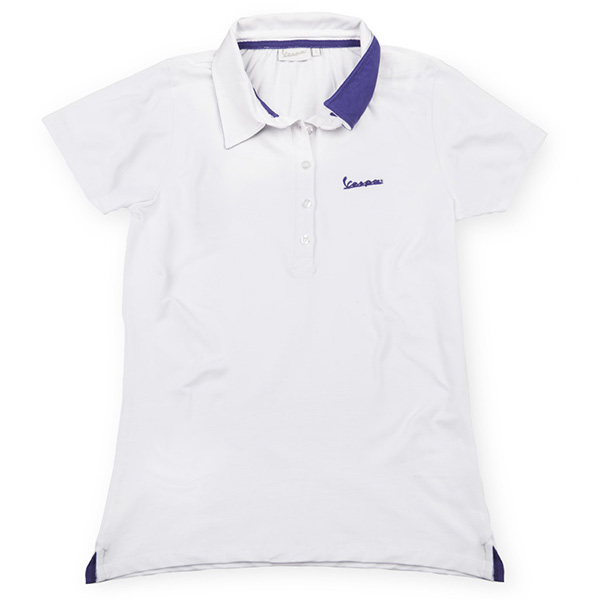 Vespa Official Logo Polo Shirts for Women(White)