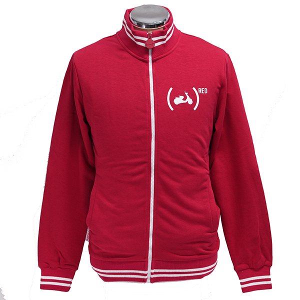 Vespa Official Zip Up Sweat Shirts-946 RED-