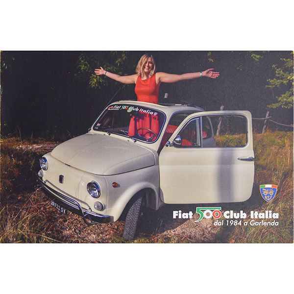FIAT 500 CLUB ITALIA Post Card(Brown)