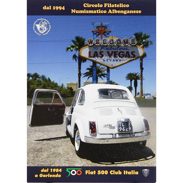 FIAT 500 CLUB ITALIA Post Card-VEGAS-